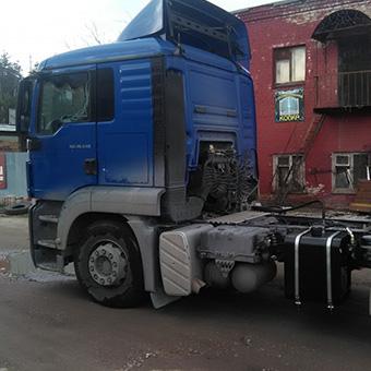Гидрофикация тягачей MAN